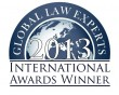 Global law experts 2013 international awards winner